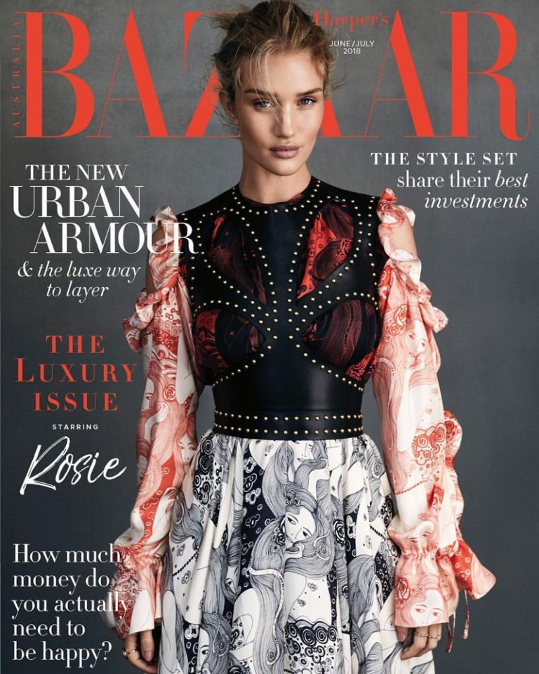 Rosie Huntington-Whiteley wears pre-fall styles for Harper's Bazaar Australia