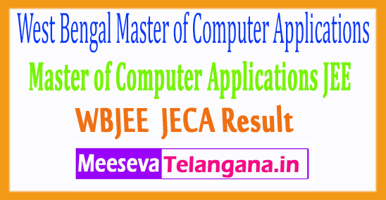 West Bengal Master of Computer Applications JEE Result 2017