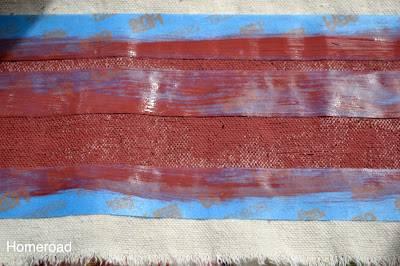 Painting grain sack stripes with painter's tape