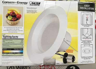 Costco 988162 - Brighten up any room with the Feit Electric LED 6-inch Retrofit Kit