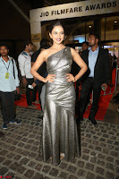 Rakul Preet Singh in Shining Glittering Golden Half Shoulder Gown at 64th Jio Filmfare Awards South ~  Exclusive 053.JPG
