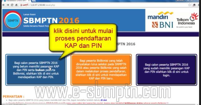 Cara Pendaftaran Kap Dan Pin Sbmptn 2016 2017 Khusus Non Bidikmisi Soal Sbmptn 2018 Dan