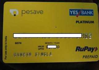 pesave card