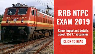 आरआरबी एनटीपीसी परीक्षा 2019: रेलवे आरआरबी जेई परीक्षा के ठीक बाद परीक्षा तिथियां जारी करता है