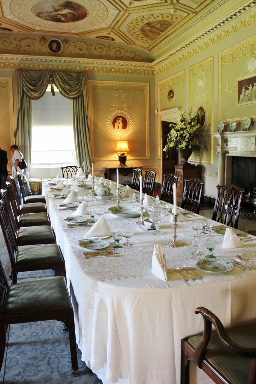 Basildon Park Dining Room used in Downton Abbey