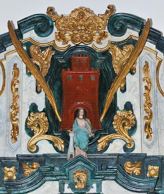 Santa Bárbara en la iglesia de las Virtudes en Conil de la Frontera