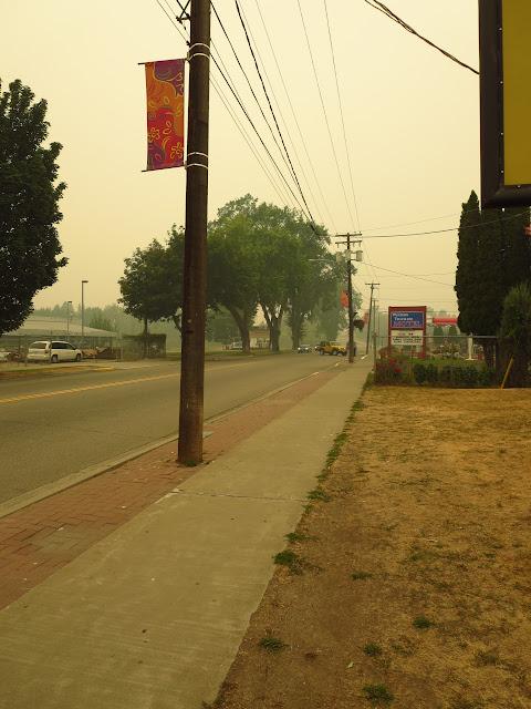 Smoke in Grand Forks British Columbia