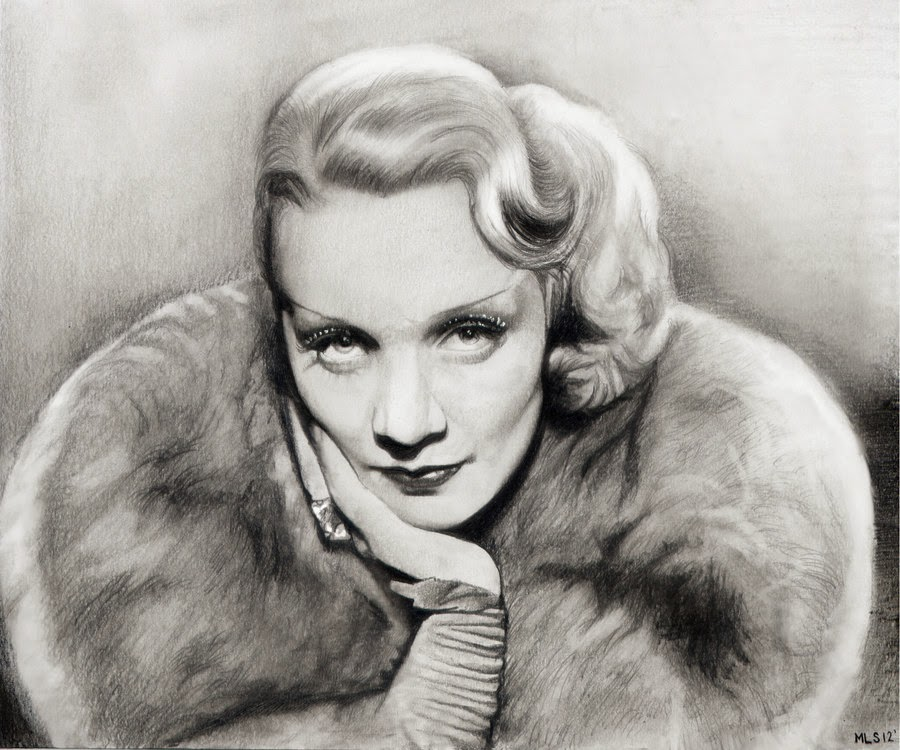 16-Marlene-Dietrich-Martin-Lynch-Smith-MLS-art-Celebrity-Drawings-www-designstack-co