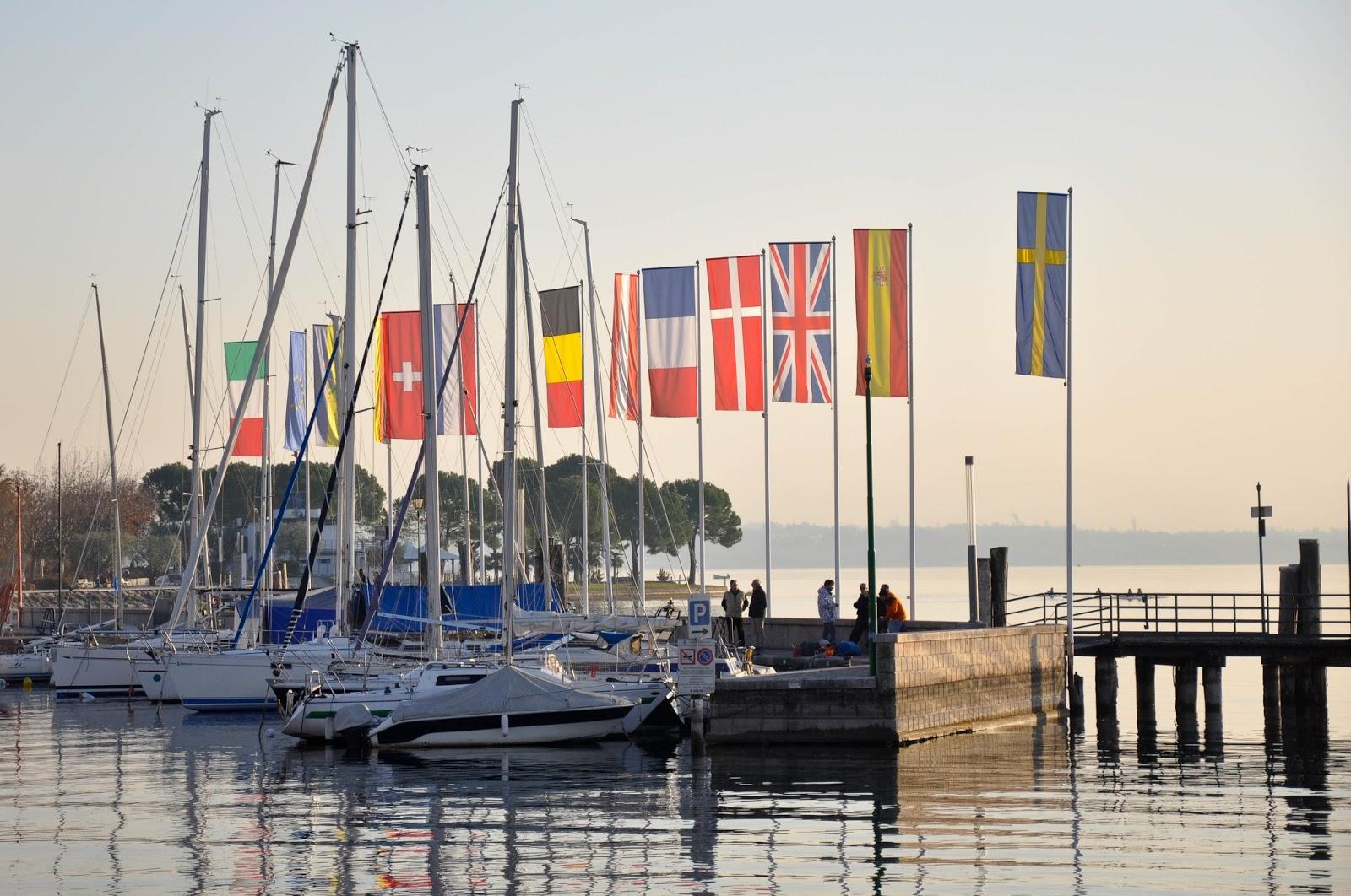 The wharf, Bardolino, Lake Garda, Italy