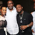 Davido Shares Photo of himself with Femi Otedola,dj Cuppy And Dangote,at the New Year Eve Event