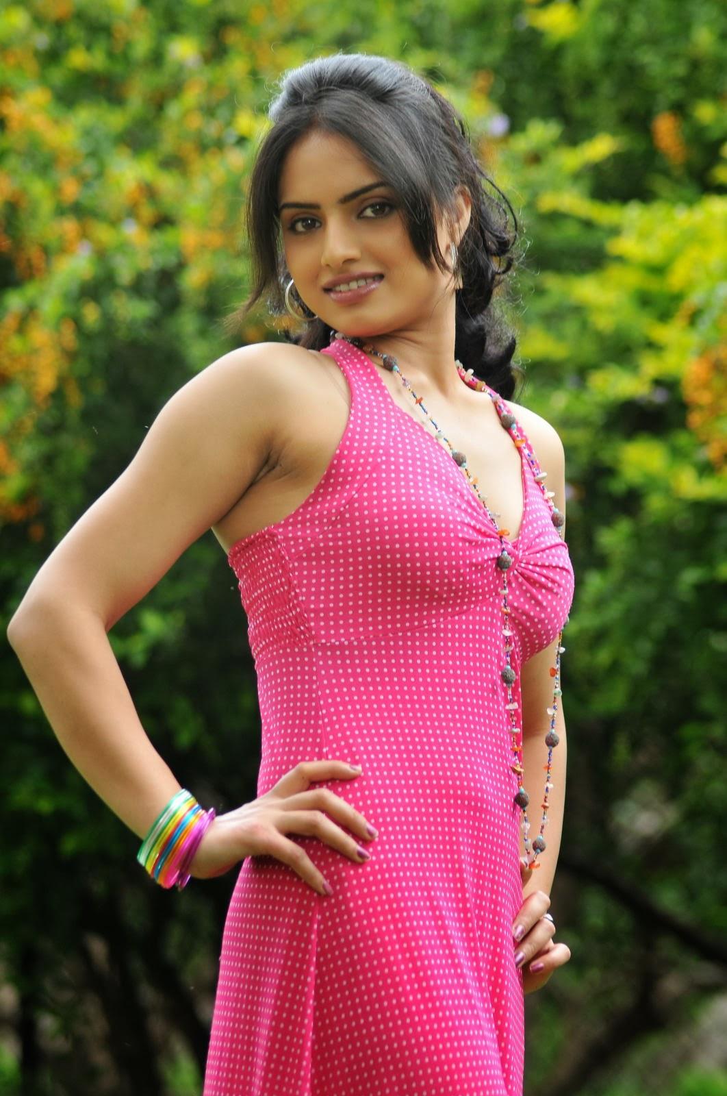 Ritu kaur latest hot photo gallery in pink long dress
