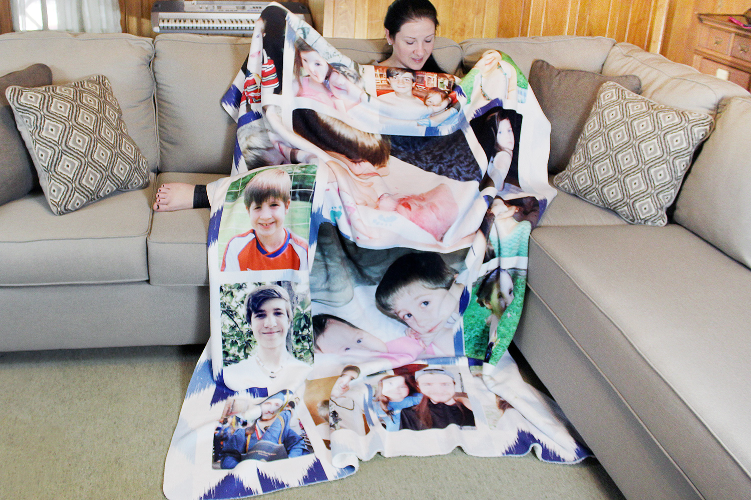 southern mom loves my custom printed sherpa blanket from collage