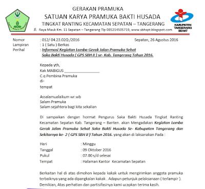 Surat Undangan Lomba G Dan T Pramuka Terbaru
