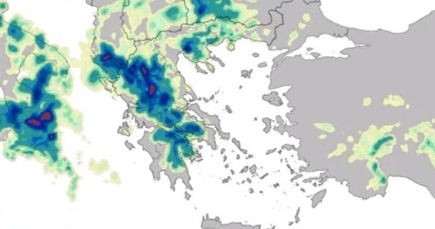 """Ισχυρές βροχές και καταιγίδες έως την Τετάρτη φέρνει η κακοκαιρία """"Αντίνοος"""" και στην Αργολίδα (βίντεο)"""