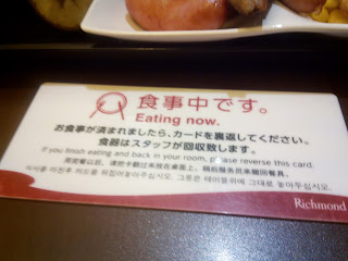 Eating now.