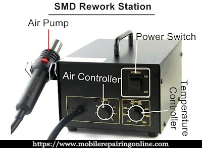 SMD Rework Station or Hot Air Blower is needed for soldering and desoldering  components and IC