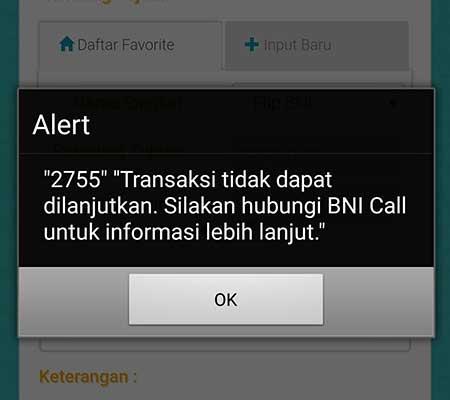 """Alert """"2755"""" BNI Mobile Banking, Apa Artinya?"""