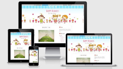 Happy Kiddies, Free Blogger Template Yang Super Cute