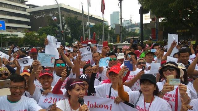 Relawan Aplikasikan Jutaan KTP untuk Dukung Jokowi 2019