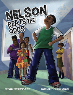 Nelson Beats the Odds cover art by Traci Van Wagoner, designed by Kurt Keller, Imagine That! Design