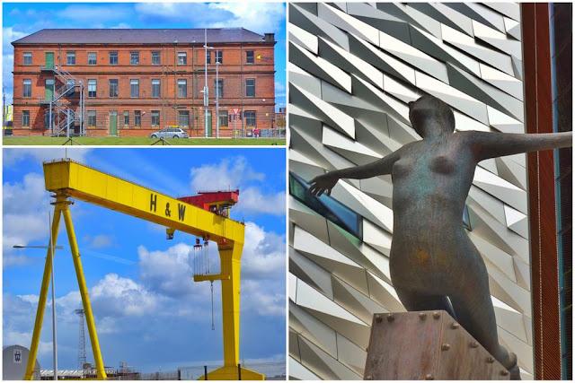 Oficinas y astillero de Harland and Wolff, Escultura Titanica de Rowan Gillespie en la entrada del Museo del Titanic en Belfast