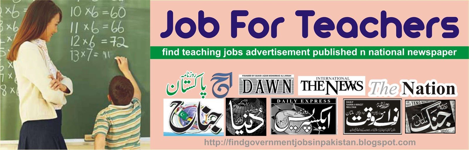 Teacher Vacancies Find All Government & Private Jobs In Pakistan: Job For