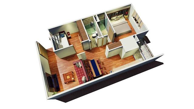 Thiết kế căn hộ tại chung cư tháp doanh nhân