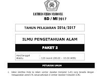 Kumpulan Soal Latihan UN SD/MI 2017 Lengap dengan Kunci Jawaban