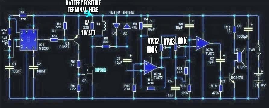 Amateur-built.: 'Pirate'- Russian metal detector circuit. on