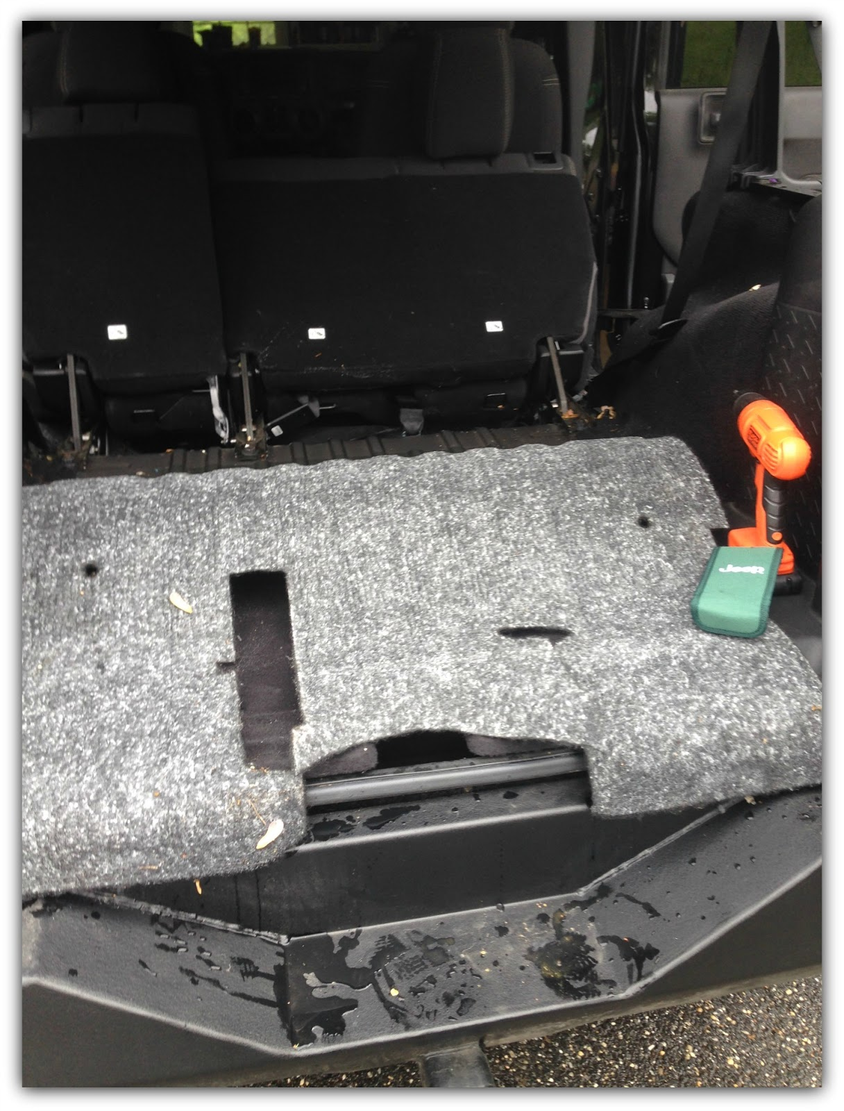 Jeep Momma Blog Lesson Learned Wrangler Drain However I Am Considering Taking All The Carpet Out Of My Rubicon And Bed Lining