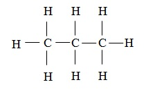 alkane structure, structure of propane