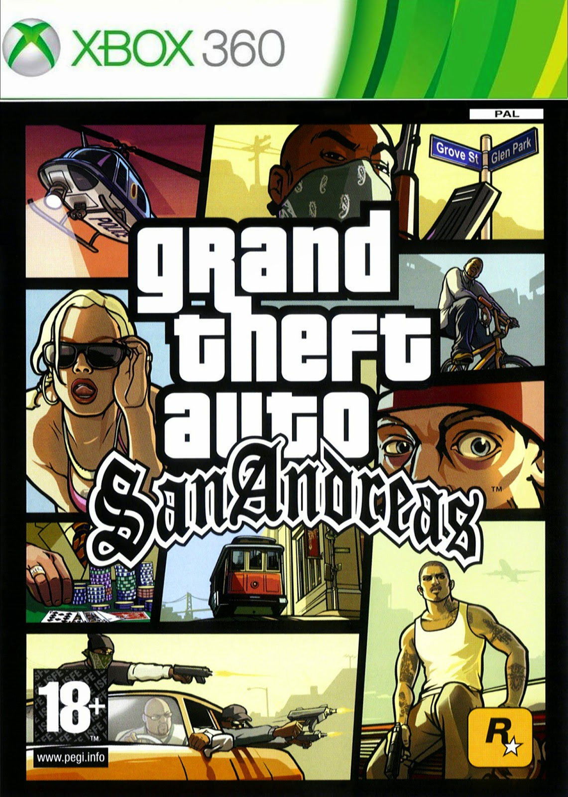 Grand Theft Auto San Andreas HD XBOX 360 Cover Caratula