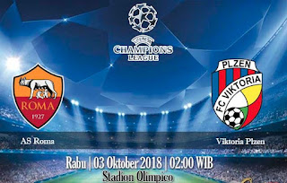 Prediksi AS Roma VS Viktoria Plzen 3 Oktober 2018