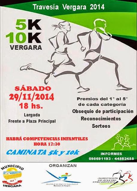 10k y 5k en Vergara (Treinta y tres, 29/nov/2014)