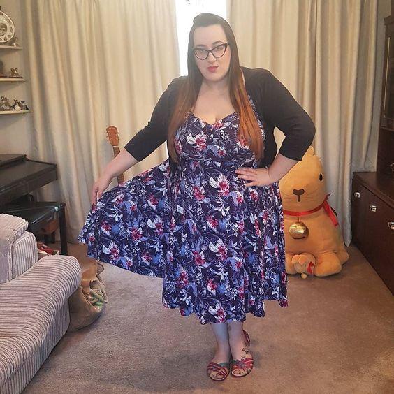 plus size collectif hibiscus Dolores dress