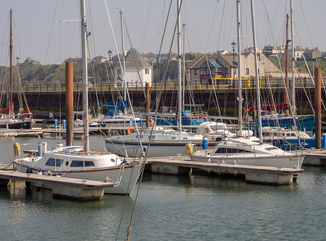 Photo of hazy sunshine at Maryport Marina on Easter Monday