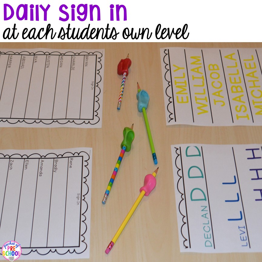 FREE Editable And Blank Sign In Sheets For Your Early Childhood Classroom  And Ideas On How  Free Sign In Sheet