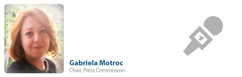 Gabriela Motroc, IYF Chair of Press Commission