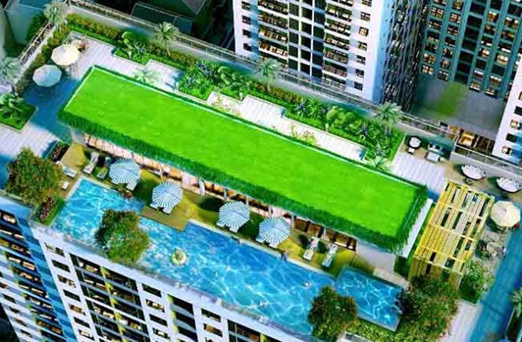 Bể bơi trên cao tại dự án chung cư số 4 Trần Hưng Đạo
