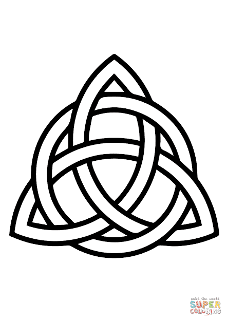 Click The Celtic Triquetra Circle Interlaced Coloring Pages