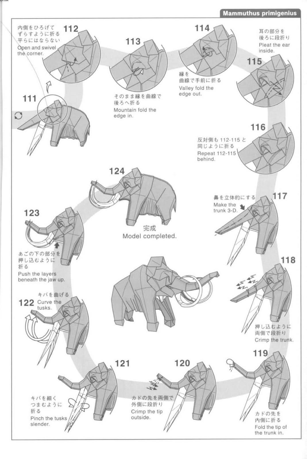 El Arte Del Origami Mammuthus Primigenius