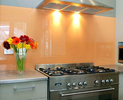Painted Glas for Kitchen by Affordable Interior Paiting NYC
