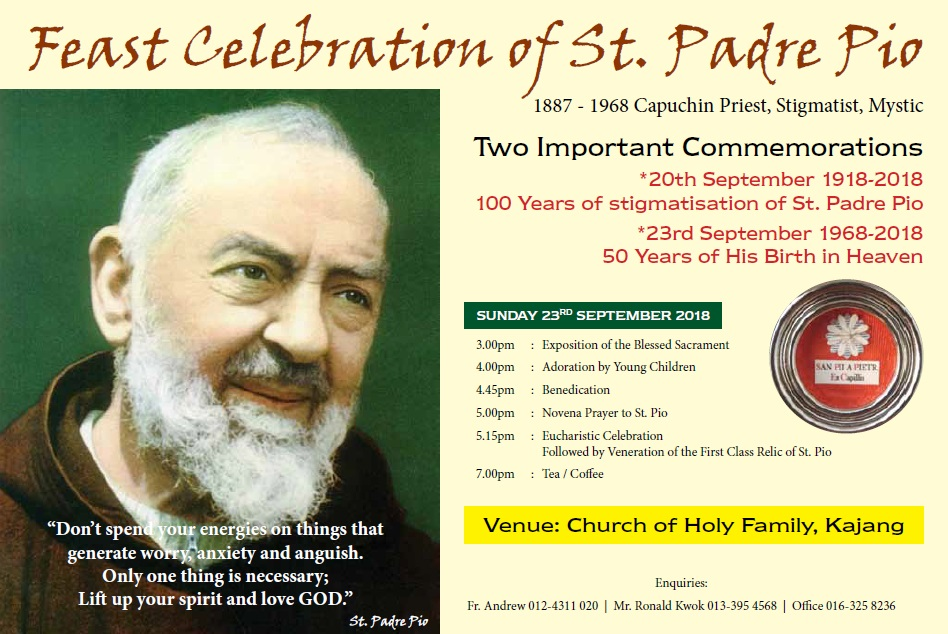 Faithful Resources for all Christian Saint Padre Pio Feast