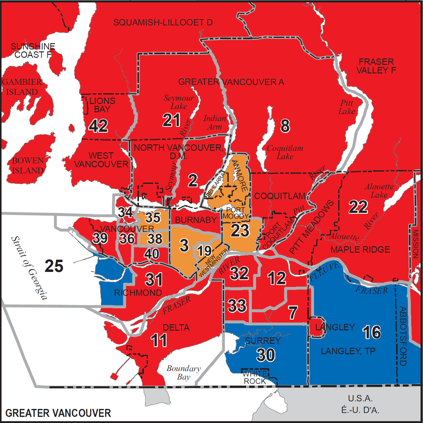 Map Of Canada 2017 Election Results.The South Fraser Blog Federal Election Results And New Ridings