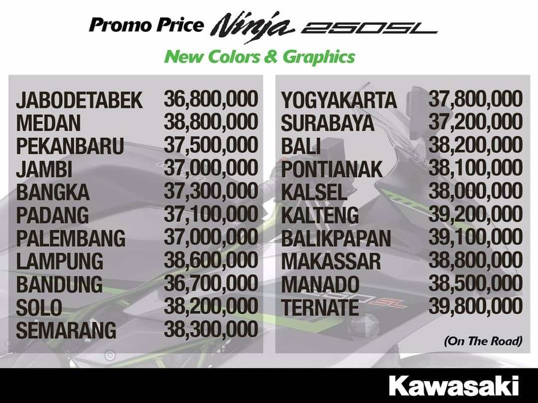 Promo Harga Kawasaki Ninja 250sl