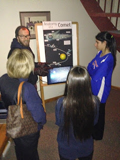 Image of Insight Observatory's Creative Director, Paul Bonfilio Explains the Anatomy of a comet to students and parents