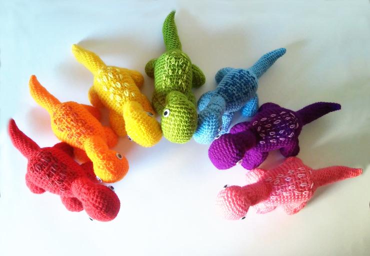 Ravelry: Dinosaurio T-Rex pattern by Puntos de Fantasía   512x740
