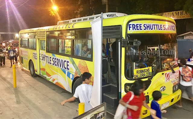 Free Ride from Robinsons Galleria Cebu to Places Near You and Vice Versa