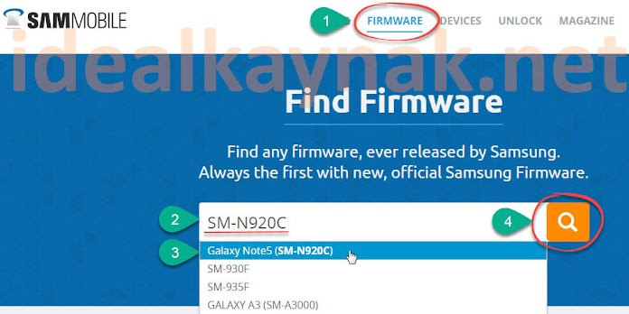 SamMobile Samsung Cihazlar için Stock ROM İndirme