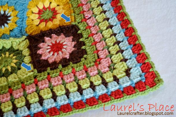 crochet blanket, crochet granny flower square motif, bueatiful border, Tutorial